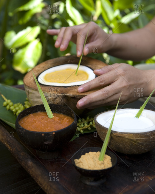Natural products of spa and massage