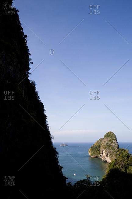 Tranquil seascape in Krabi Marine National Park, Thailand