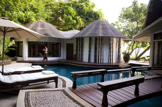 Luxury pavilion in hotel resort of Thailand