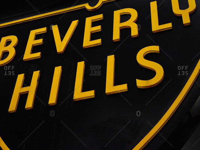 Beverly hills neon sign