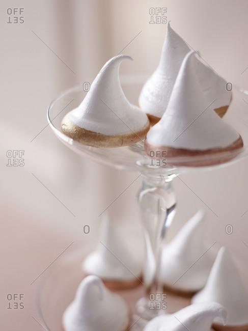 Close-up of meringue biscuits