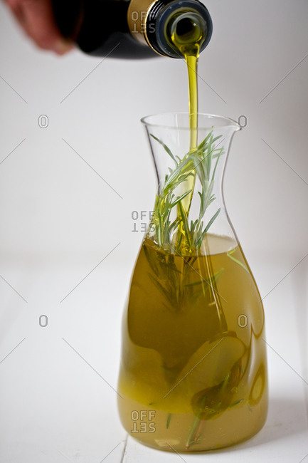 Making rosemary infused oil - Offset