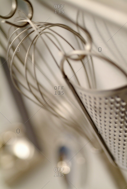 Hand whisk and grater