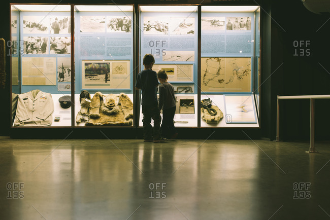 Two Young Boys in Museum