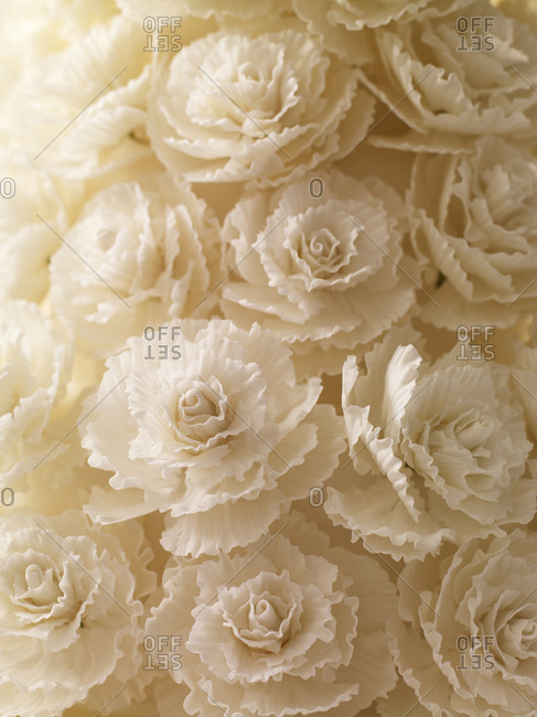 Close-up of roses made of fondant