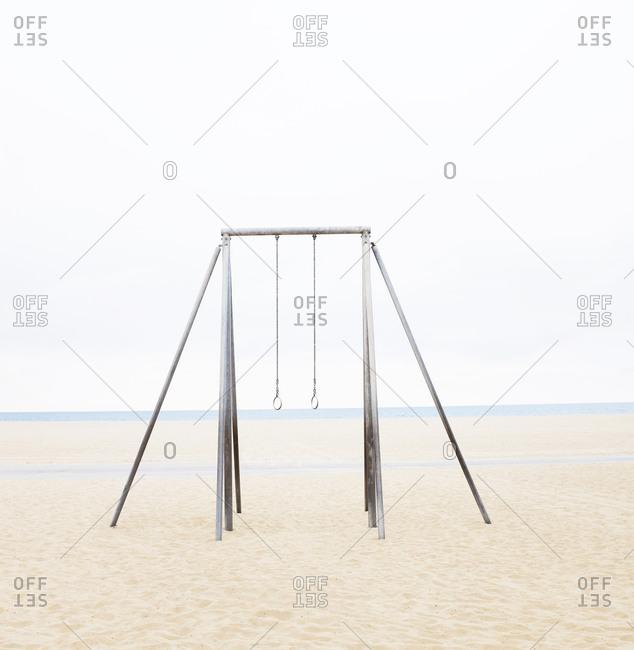Empty rings on beach