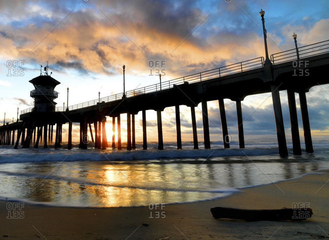 Sunset at San Clemente Pier, California