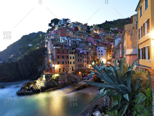 Beautiful view of Riomaggiore, Cinque Terre, Italy.