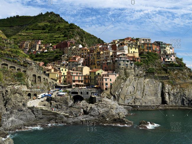 Beautiful view of Manalora, Cinque Terre, Italy.