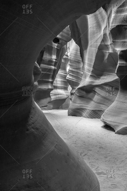 Magical rock formation in Slot Canyon, Utah