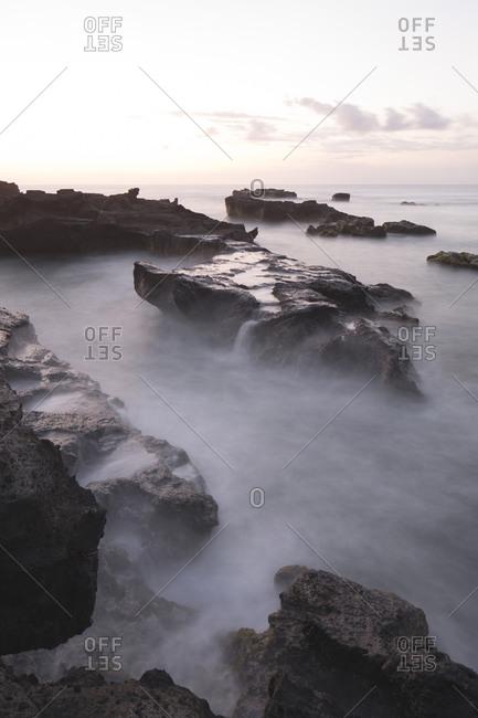 Mystic seascape with rocks