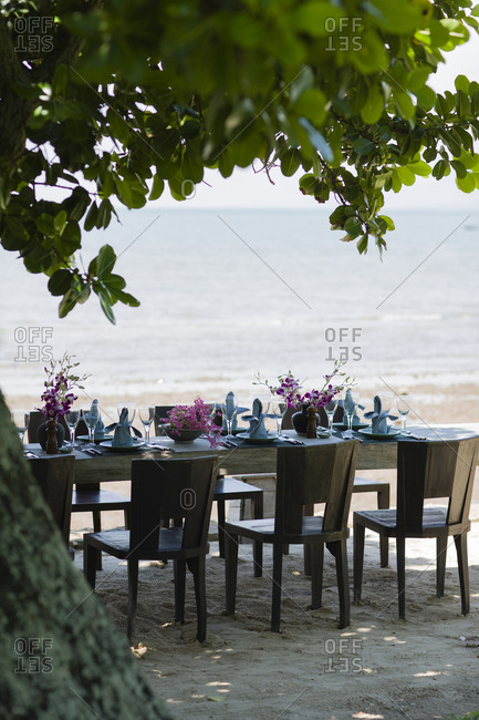 Dining table with chairs outdoor