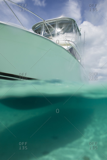 Low angle view of yacht on water