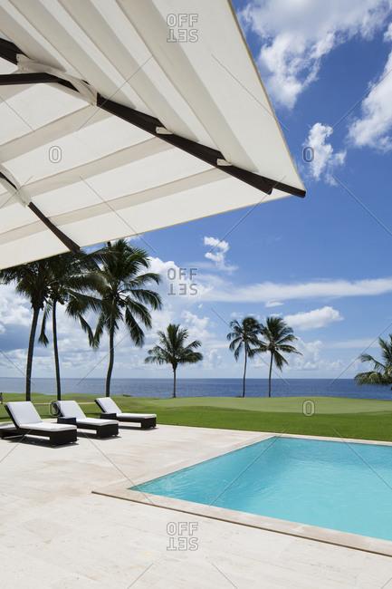 Swimming pool of luxury hotel