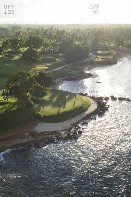 Aerial view of golfing course