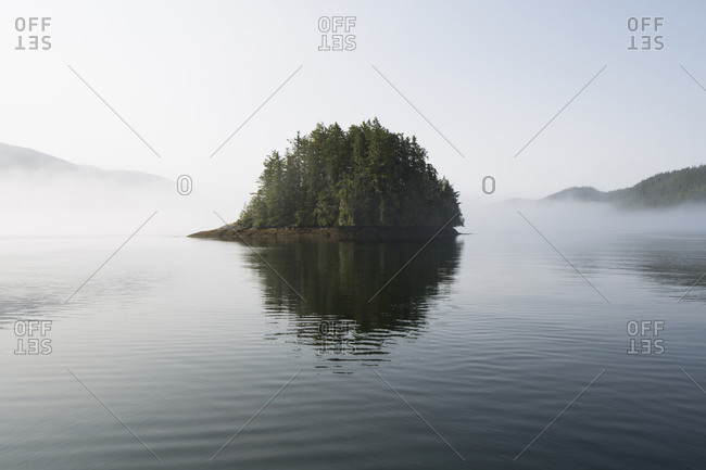 Small island in the middle of the lake