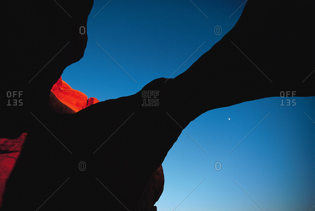 Silhouette of rock formation