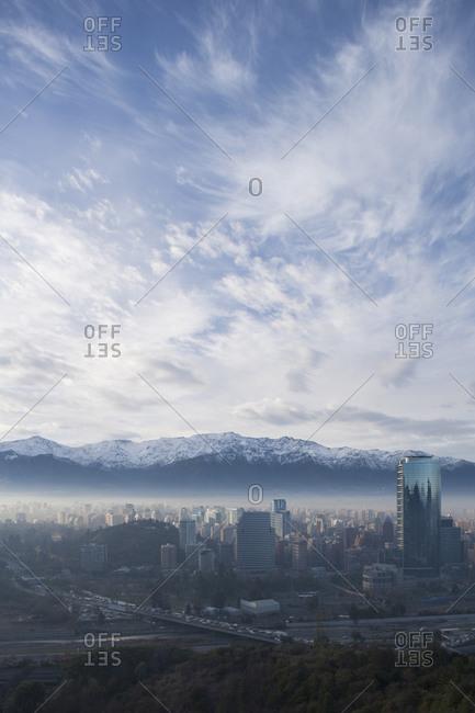 View of Santiago from Cerro San Cristobal.