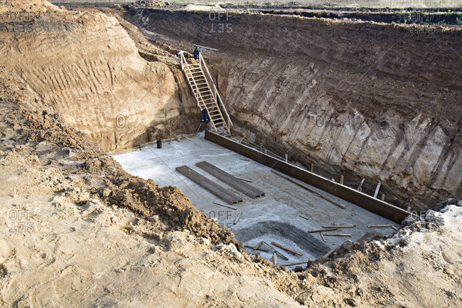 Construction pit in Voronezh, Russia