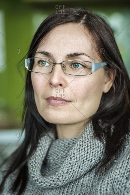 Portrait of woman with glasses