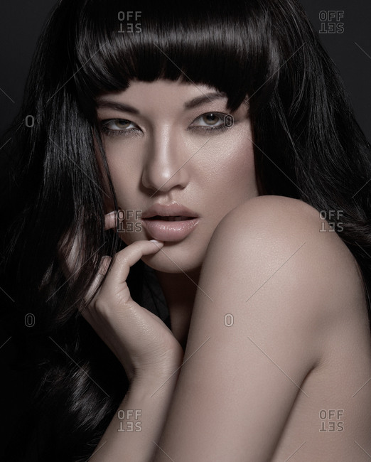 Head and shoulders of brunette model