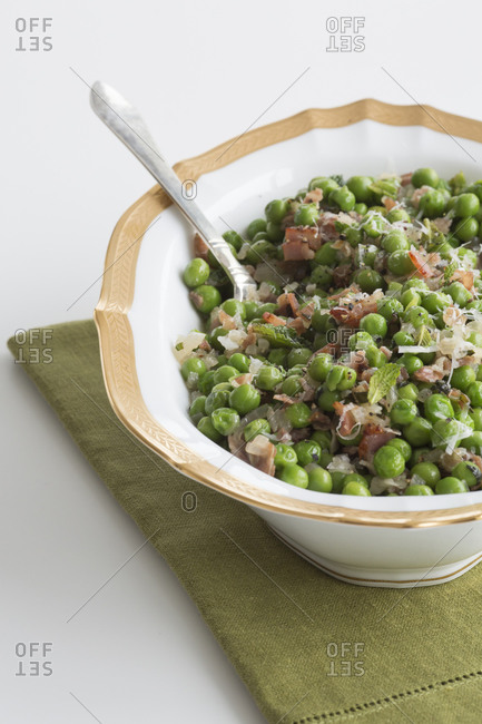 Ham and peas with mint