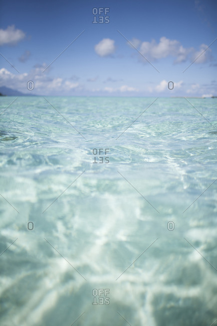 Close up of clear ocean water