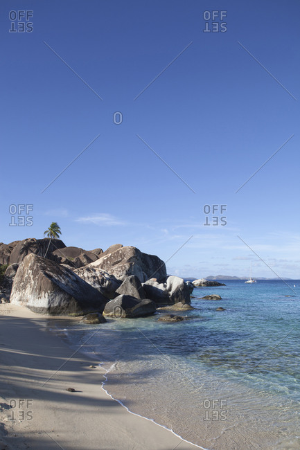 Rock formations known as The Baths on Virgin Gorda