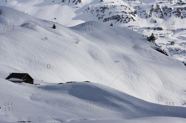 Snowy winter scene near Lech