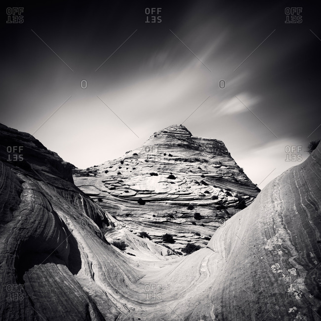 Black and white shot of Paria Canyon