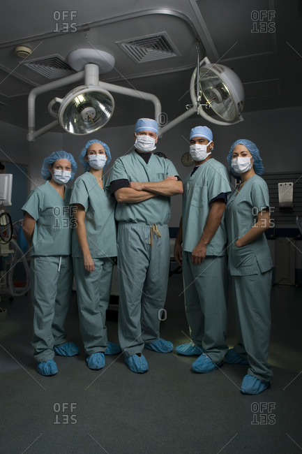 Medical personnel in operating room