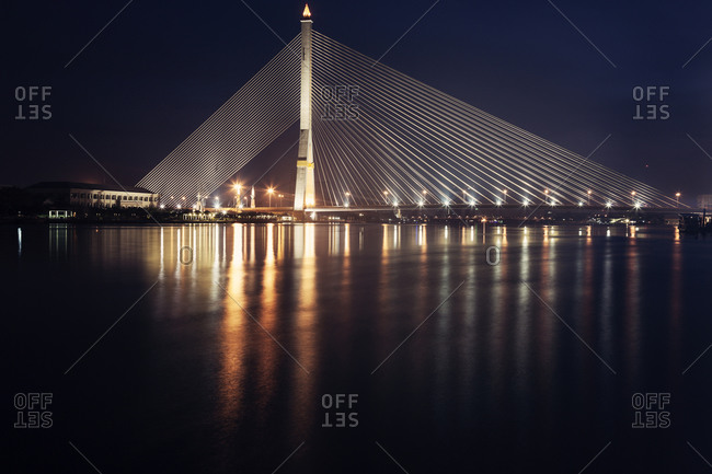 Rama VIII Bridge on Chao Phraya River