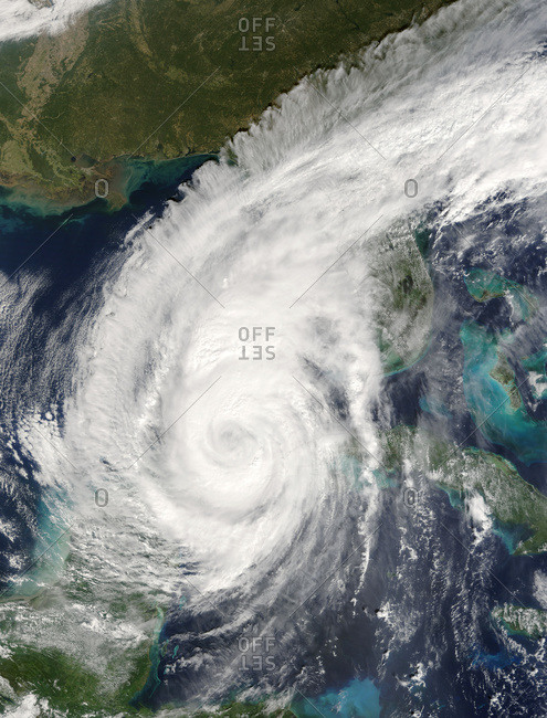 Hurricane Wilma, taken from the International Space Station, October 23, 2005