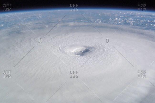 Hurricane Isabel, taken from the International Space Station, September 13, 2003