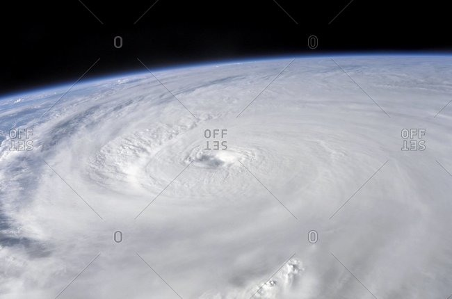 Hurricane Ivan, taken from the International Space Station, September 13, 2004