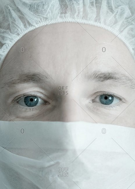 Doctor in a surgical mask