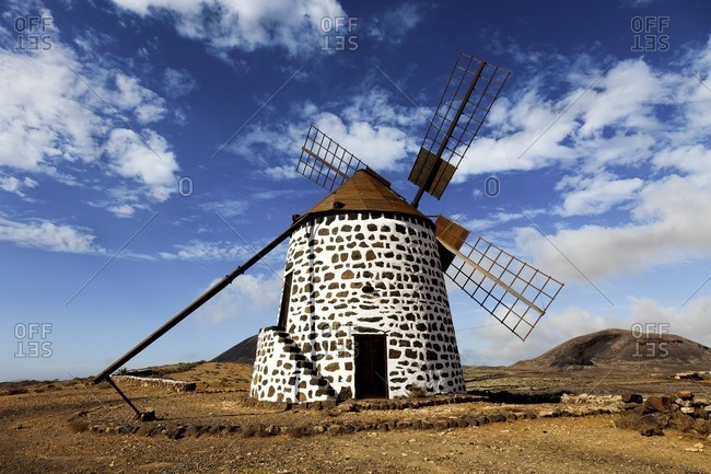 Wind mill, Fuerteventura, Canary Islands.