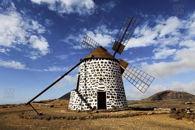 Wind mill, Fuerteventura, Canary Islands.
