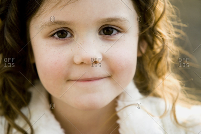 Portrait of a little girl smiling
