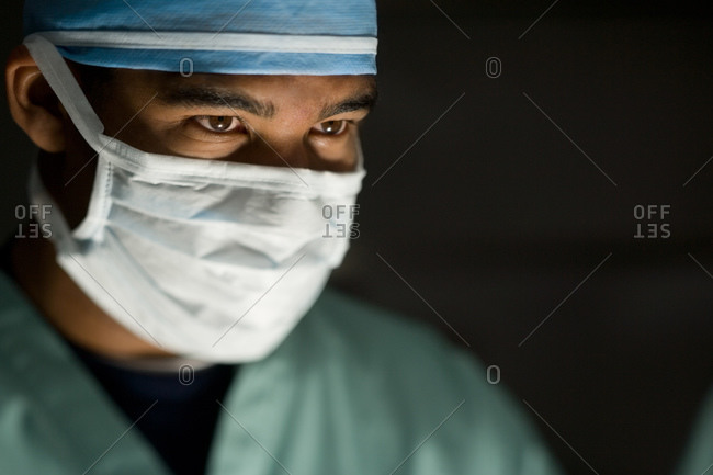 Male doctor in surgical scrubs