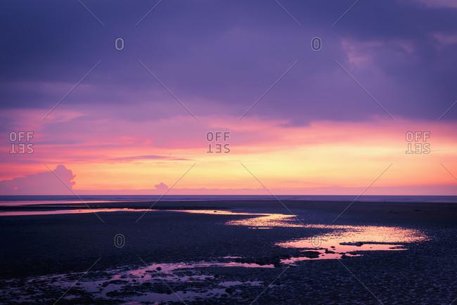 Beach Shore under a sunset