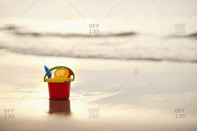Sand Toys on the beach