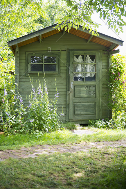 Wooden house in the garden