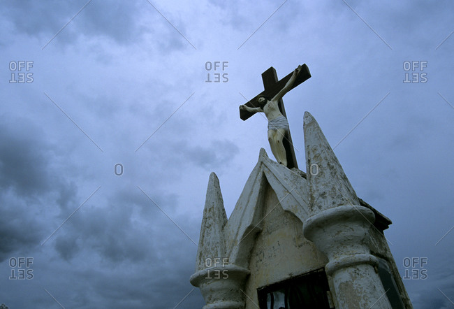 A graveyard at Hoctun, Yucatan, Mexico