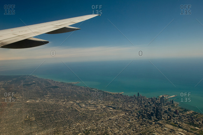 Chicago Illinois seen from a plane