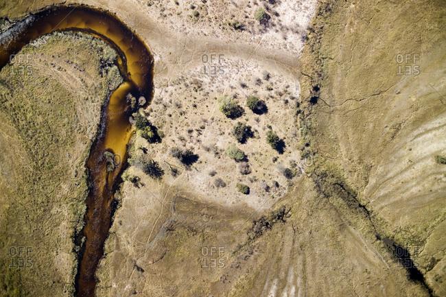 The flooded plains of the Okavango Delta