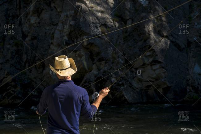 Fly fishing in Idaho.