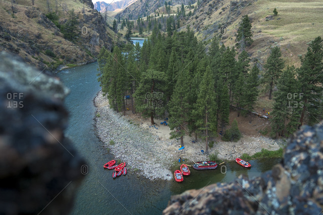 A camp on the Middle Fork of the Salmon.