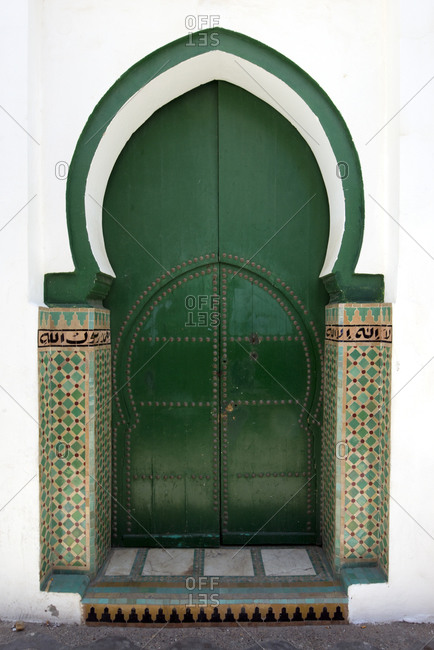 A decorative door in the coastal town of Asilah, Morocco.