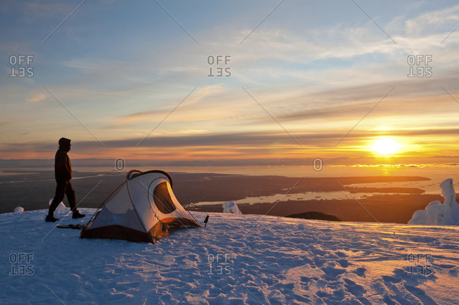 Winter Alpine Camping